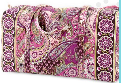 Large Duffel in Very Berry Paisley