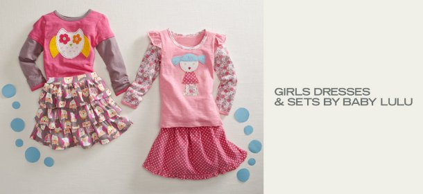 GIRLS DRESSES & SETS BY BABY LULU, Event Ends January 9, 9:00 AM PT >