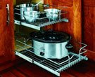 2-Tier Metal Pull-Out Cabinet Basket