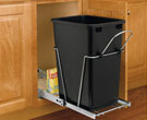35-Quart Plastic Pull-Out Trash Can