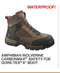 "Amphibian Wolverine Carbonmax Safety-Toe GORE-TEX 6"" Boot"