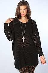 The Eagle Knit Sweater in Black