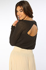 The Forever Mine Raglan Sweater in Charcoal