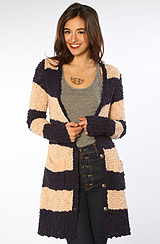 The Cuddle Bear Cardigan in Ballet Navy Combo