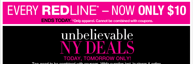 Unbelievable NY Deals only through Sunday! Shop Now!