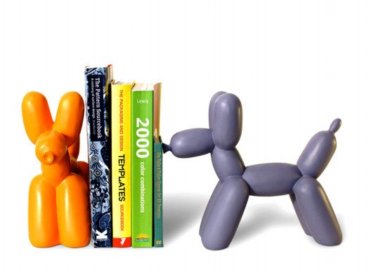 I'm loving these Jeff Koons-inspired bookends.