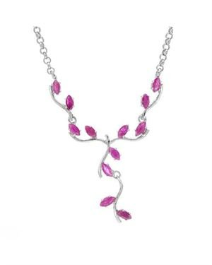 Ladies Ruby Necklace Designed In 925 Sterling Silver $79