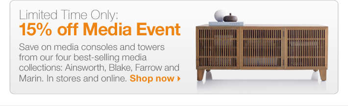 Limited Time Only: 15% off Media Event