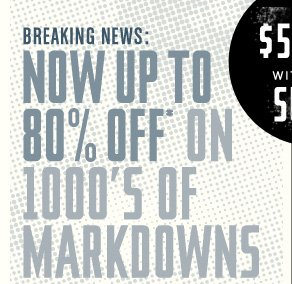 1000s of Markdowns