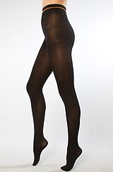 The Solid Opaque Tights in Black