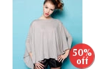 Oversized Dolman-Sleeve Knit Top