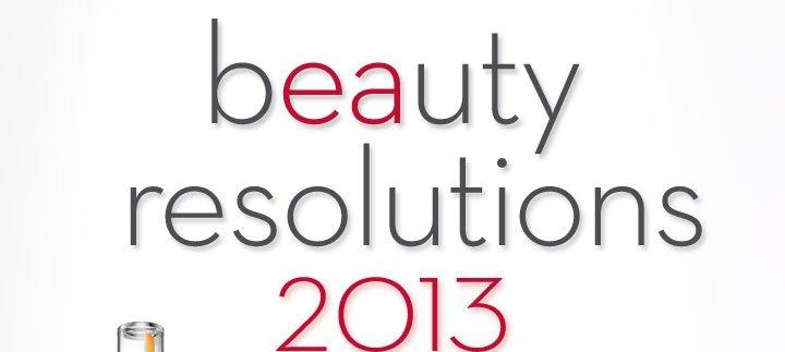 beauty resolutions 2013