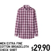 MEN EXTRA FINE COTTON BROADCLOTH CHECK SHIRT