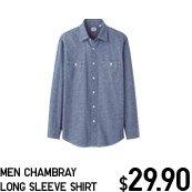 MEN CHAMBRAY LONG SLEEVE SHIRT