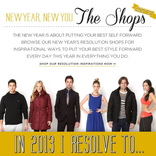 2013 New Year's Resolution Shops