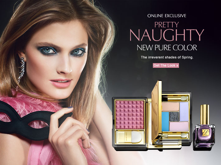 Online Exclusive Pretty Naughty New Pure Color The irreverent shades of Spring.  GET THE LOOK »