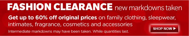 FASHION CLEARANCE | SHOP NOW