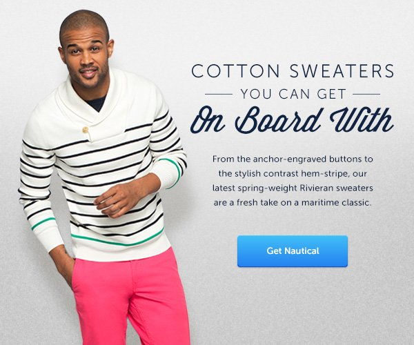 Cotton Sweaters You Can Get On Board With