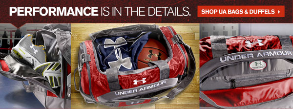 PERFORMANCE IS IN THE DETAILS. SHOP UA BAGS & DUFFELS.