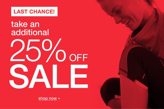 Last chance! Take an additional 25% off Sale. Shop now.