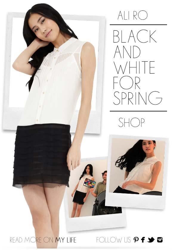 Ali Ro: Black and White for Spring