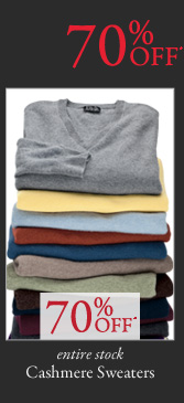 70% OFF* Cashmere Sweaters