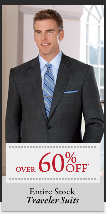 Over 60% OFF* Traveler Suits