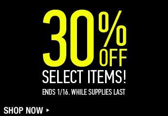 Sale - 30% Off Select Items - Shop Now