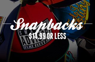 Snapback: $14.99 or less