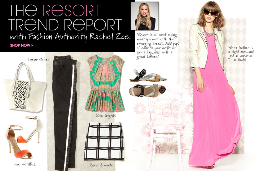 THE RESORT TREND REPORT with Fashion Authority Rachel Zoe. SHOP NOW