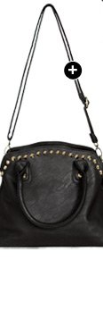 Studded Trim Satchel Bag