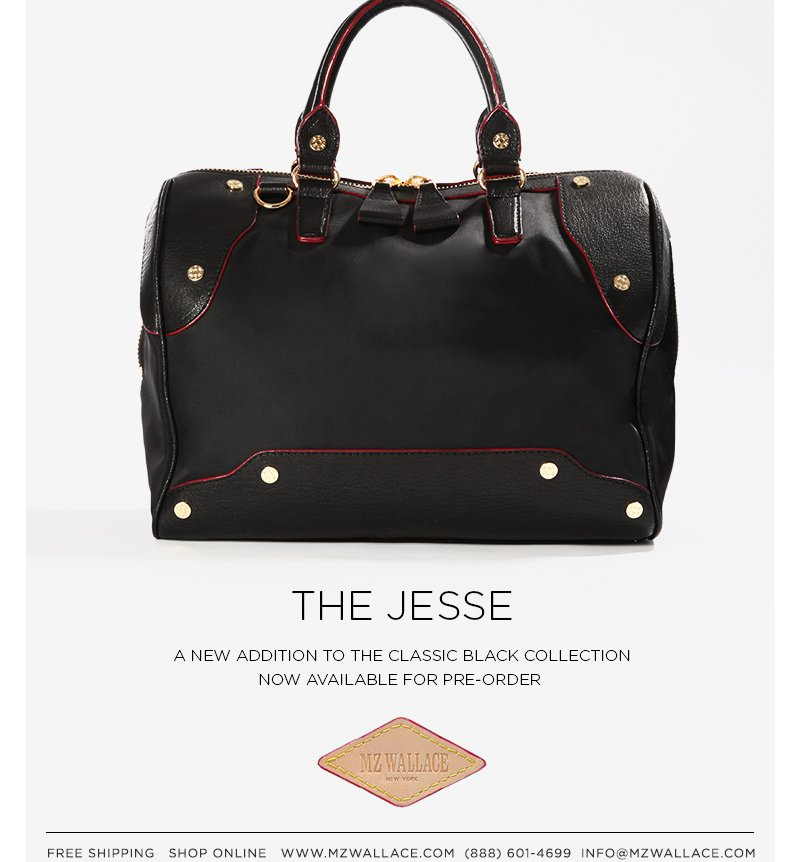 The Jesse | A new addition to the Classic Black Collection. Now available for pre-order.