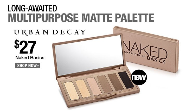Long-awaited multipurpose matte palette - Urband Decay Naked Basics - $27. Shop Now.