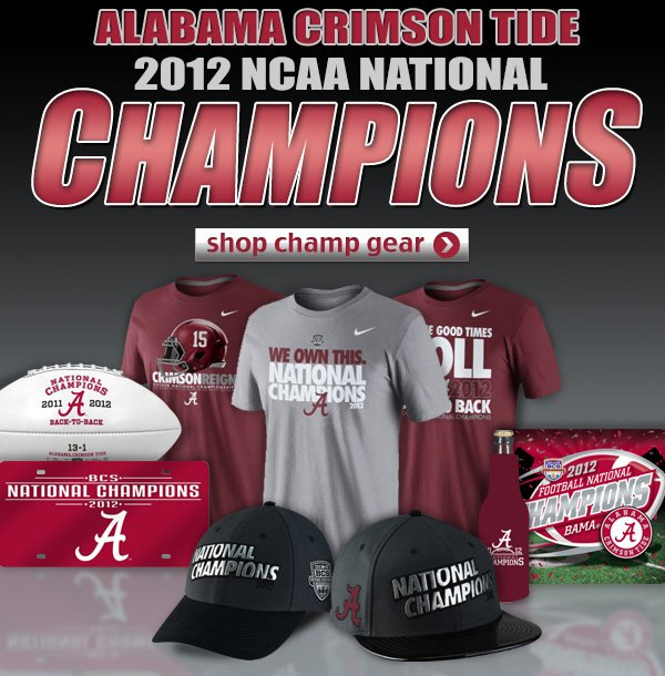 The Crimson Tide win! LIDS has the official championship gear!