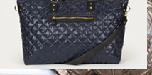 Quilted Luggage Tote Bag