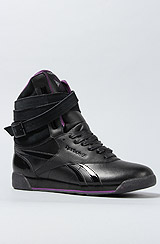 The Alicia Keys x Reebok Dubble Bubble FS Sneaker in Reptile Black
