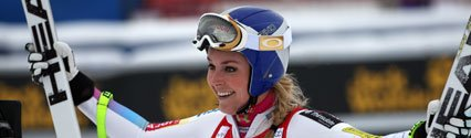 Lindsey Vonn Records World Cup Hat-trick in Canada