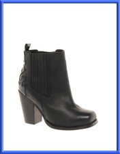 ASOS ANDERSON Leather Ankle Boots