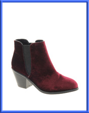 Faith Sepia Velvet Ankle Boots