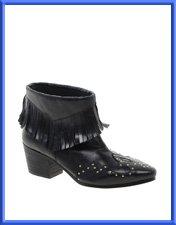 ASOS ARCHERY Fringe Western Boots