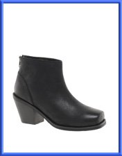 ASOS ARIELLE Leather Ankle Boots with Chisel Toe