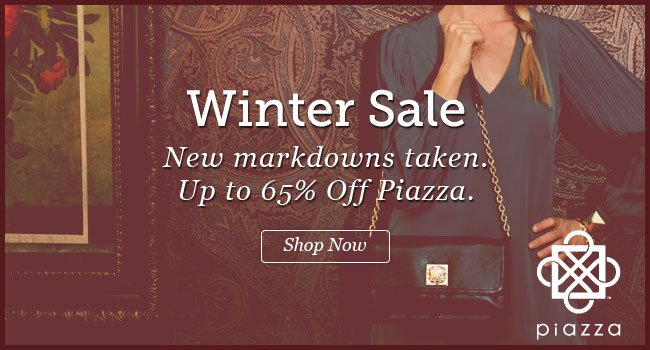 Piazza Year End Sale. Up to 65% Off. Shop Now >