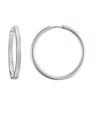 Esprit Cosmos Sterling Silver & Zirconia Hoop Earrings