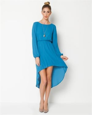 Everly Long Sleeve Hi-Low Dress