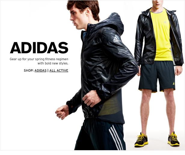 ADIDAS - Gear up for your spring fitness regimen with bold new styles.