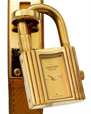 Hermes Gold-Plated Stainless Steel Kelly Watch $759