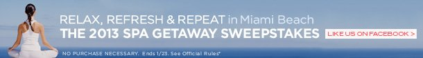 Relax. Refresh. Repeat in Miami Beach Spa Getaway Sweepstakes