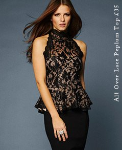 All Over Lace Peplum Top