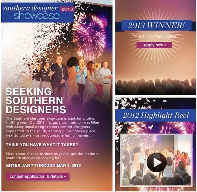 Belk Southern Designer Showcase 2013. Seeking Southern Designers. Contest application and details.