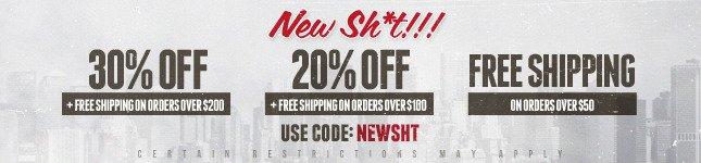 30% Off + Free Ship! Shop Karmaloop Now!